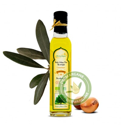 Organic Oil - 250ml Pure Argan Oil. Vitamin E Oil Moisturiser against Stretch Marks - Body Oil, Face Oil, Hair Oil