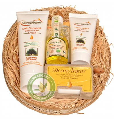 Valentine's And Christmas Gifts Set For Women And Men. Pure Argan Oil (40ml) + Arg an Day Cream (50ml) + Argan Soap (100g)